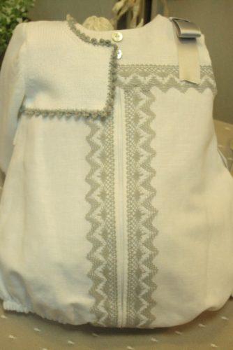 Pelele lino blanco con encaje