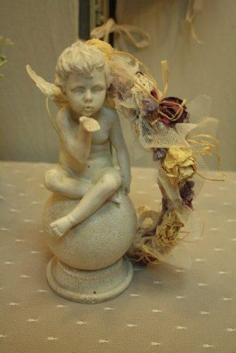 Media corona flores secas